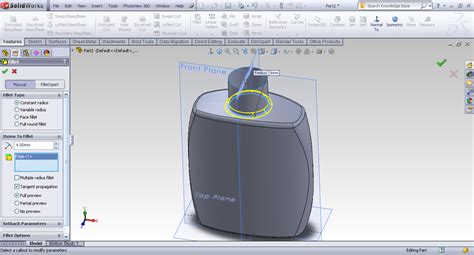 tutorial solidworks bottle tutorial creating bottle using surface techniques in