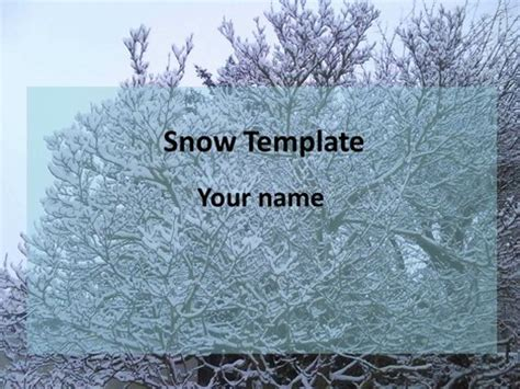 winter trees nature powerpoint templates snow powerpoint template