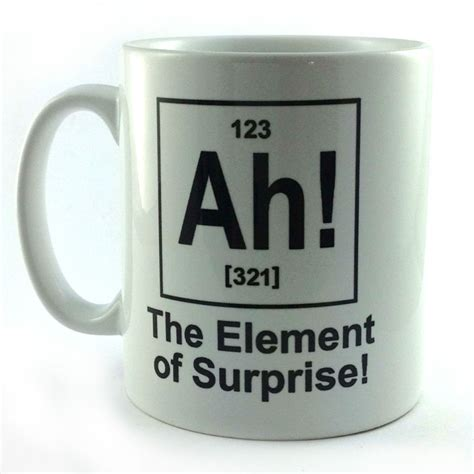 ah element of surprise gift cup mug present science
