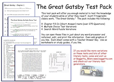 Scarlet Letter Character Quizlet Great Gatsby Worksheets Chapter 2 Deployday