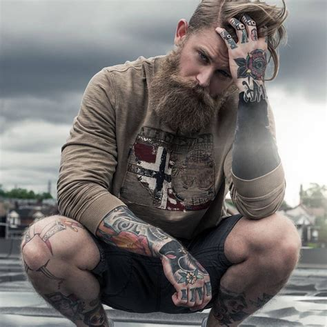 men tattoos tumblr beardrevered on bearditorium josh tattooed