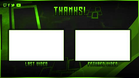 youtube outro layout freedom youtube endcard streamlays com