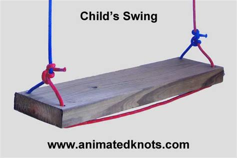how to swing a rope child s swing how to hang a child s swing knots