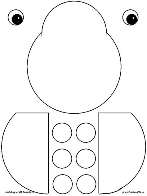 bug template printable ladybug crafts idea for preschool crafts templates ladybug crafts