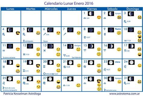 almanaque o calendario perpetuo con las fases lunares y share the calendario lunar enero 2016 patricia kesselman