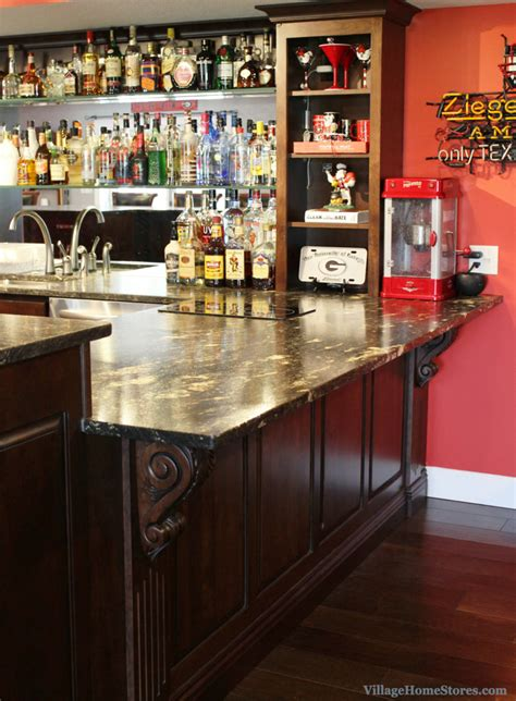 Unique Bar Cabinets Custom Cherry Bulldogs Bar Home Stores