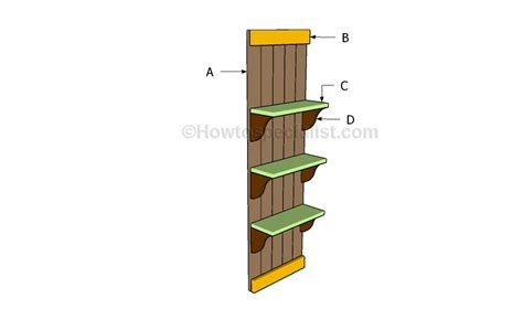 wall shelves plans howtospecialist how to build step
