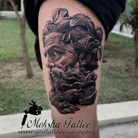 tattoo convention faridabad poseidon sculpture tattoo done by mukesh waghela at