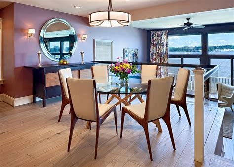 mid century style dining chairs glass dining tables that make a stylish impression