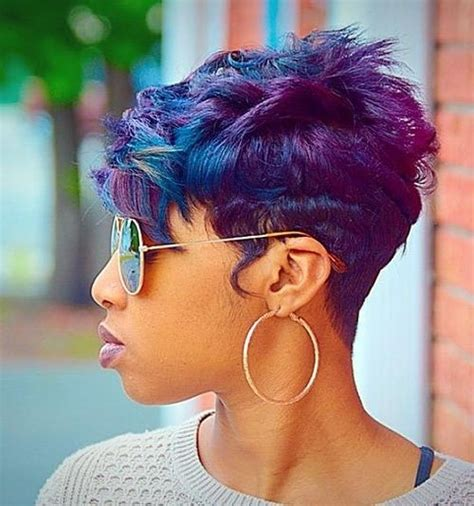 Purple And Black Hairstyles by 20 Collection Of Purple And Black Hairstyles