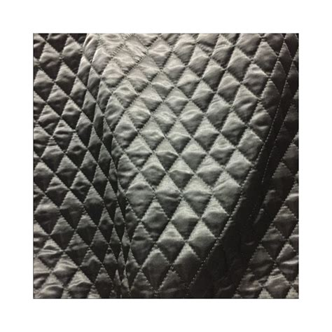 Quilted Polyester Fabric by Quilted Fabric Satin 1 Inch Design Eu Fabrics