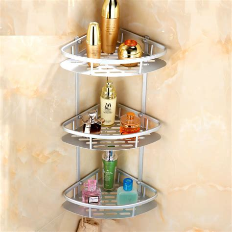 Bathroom Accessories Corner Shelf by Space Aluminum Bathroom Shelves Aluminum Shelf 3 Layers