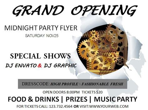 20 Grand Opening Flyer Templates Free Demplates Grand Opening Flyer Template
