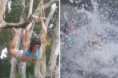 epic rope swing rio 2016 michelle jenneke s bikini antics ahead of