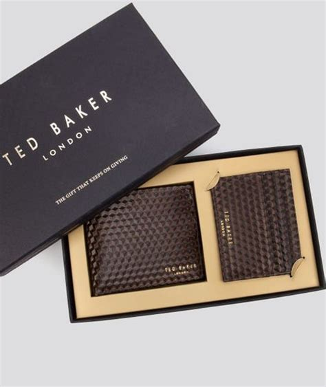 Ted Baker Gift Card Terms And Conditions - ted baker forpady bifold wallet and card holder gift set in brown for men multi lyst