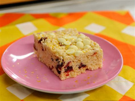 white chocolate and cranberry crispy rice squares recipe