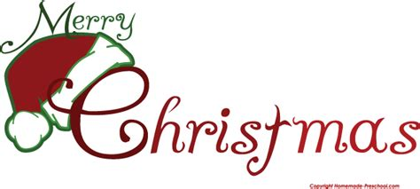 Free Merry Christmas Clipart Free Clip Art Christmas Words