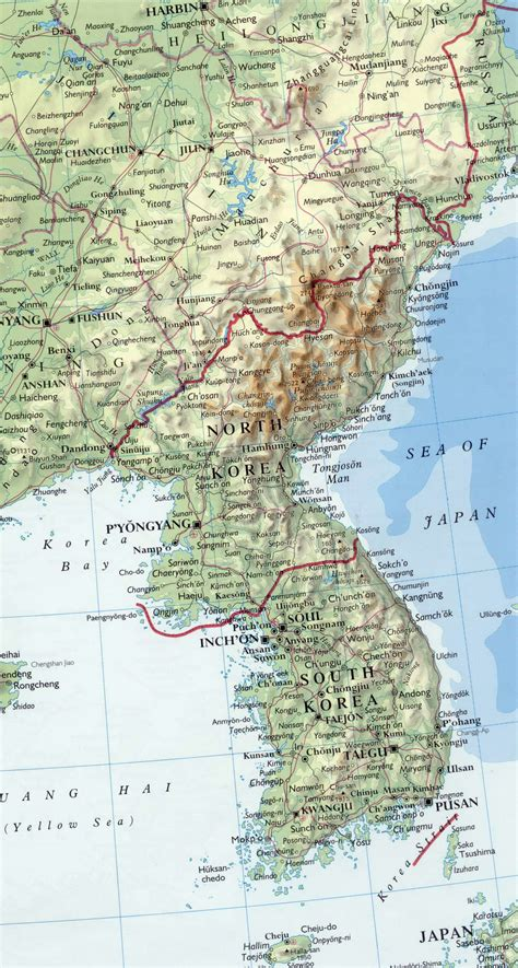 map of korea maps of korea dprk detailed map of korea