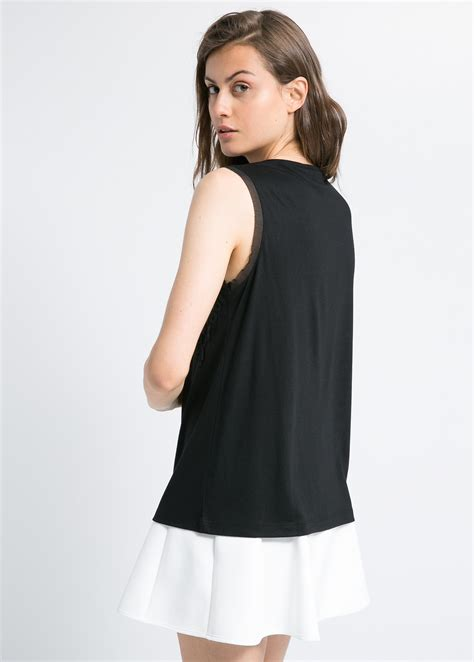 Blouse Flowy 1 lyst mango crepe flowy blouse in black