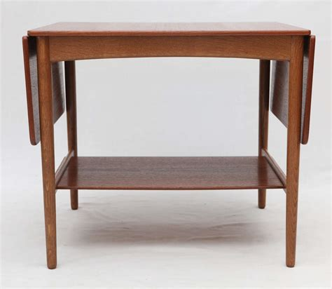 Drop Leaf Side Table Hans Wegner Drop Leaf Side Table For Sale At 1stdibs