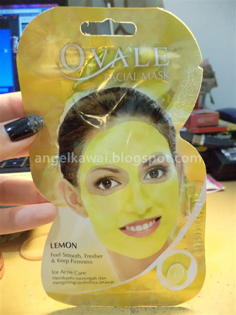 Masker Wajah Ovale angelkawai s diary review ovale mask lemon