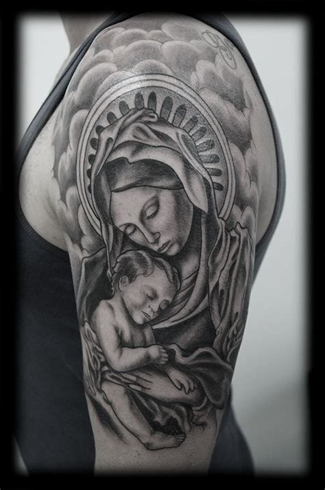 baby jesus tattoo designs half sleeve design ideas and pictures page 2 tattdiz