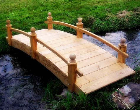 garden bridges treated pine amelia single rail garden bridge