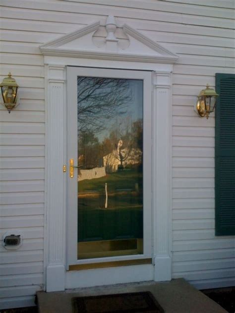 Exterior Door Trim Pediment Material Carpentry Diy Front Door Molding Ideas