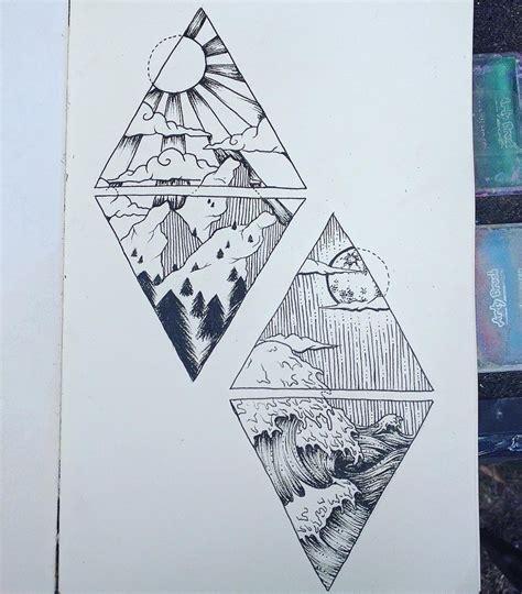 geometric tattoo ocean kim tattoo tattoo ideas pinterest tattoo ocean and