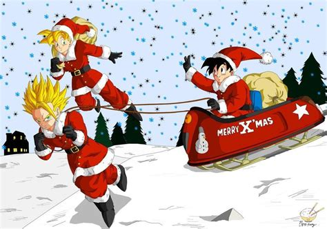 dragon ball z christmas wallpaper dragon ball gohan 52 all teen christmas by songohanart