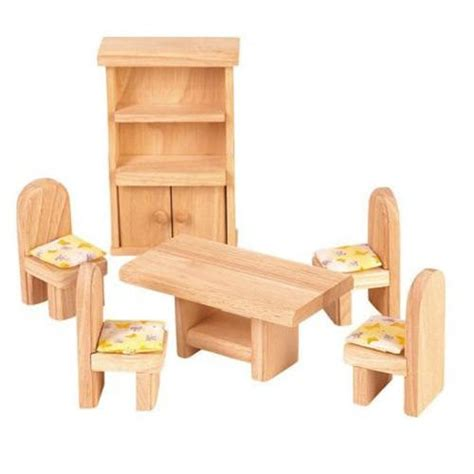 wooden doll houses with furniture wooden dollhouse furniture plan toys classic dining room