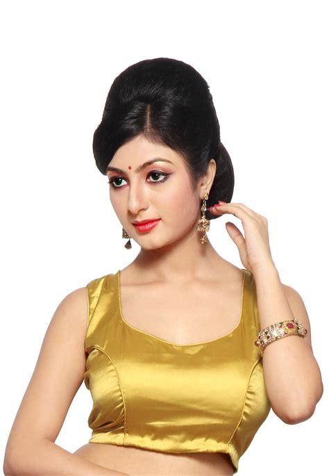 Plain Sabrina Blouse 1 plain satin blouse in gold ubd194