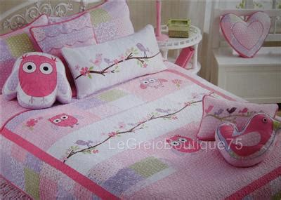 charles street spring owl teen girls twin quilt bedding