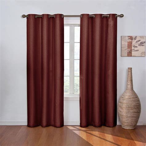blackout curtains eclipse eclipse blackout madison merlot polyester grommet blackout