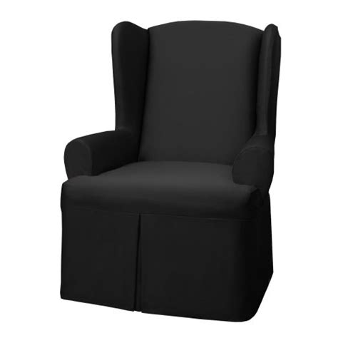 black wing chair slipcover review best maytex twill wing chair cover black