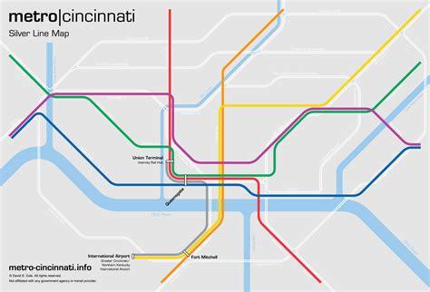 silver line metro map metro cincinnati silver line