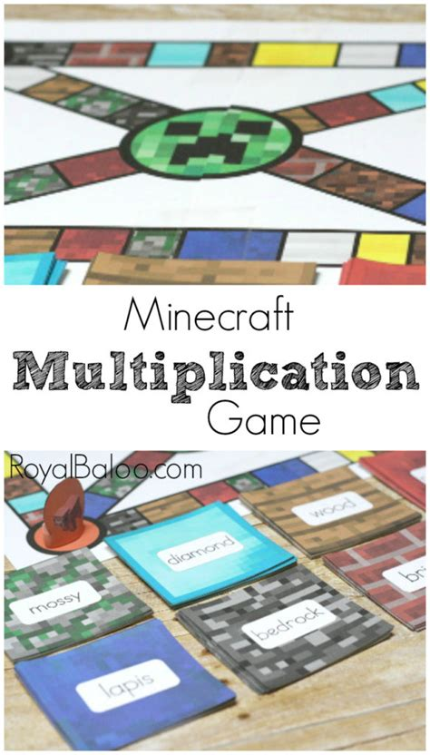 printable minecraft quiz minecraft multiplication game royal baloo