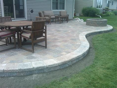 Ideas For Paver Patios Design Sted Concrete Patio Designs Colored Sted Concrete Patio With Pit Garden