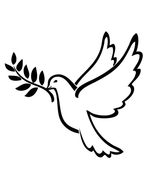 Peace Dove Gif Images Peace Dove Coloring Page