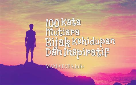 kata mutiara bijak kehidupan  inspiratif mamatata