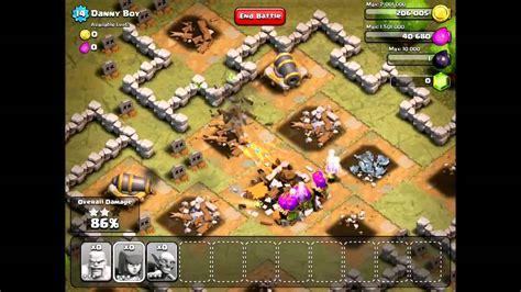 clash of clans single player clash of clans single player walkthrough danny boy youtube