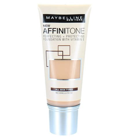 Maybelline Gel Foundation maybelline affinitone perfecting and protecting foundation 30ml 16 vanilla