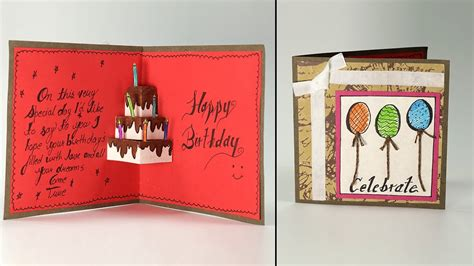 how do you make birthday cards handmade birthday greeting card cake pop up birthday