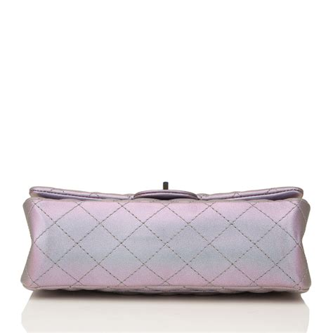Misha Bartons Gorgeous Chanel Classic Charms 255 Quilted Bag At The 60th International Cannes Festival by Chanel Light Purple Mermaid Iridescent Goatskin Medium 2