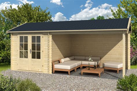 ove log cabin with side porch 2 5x3 4m 3 0m