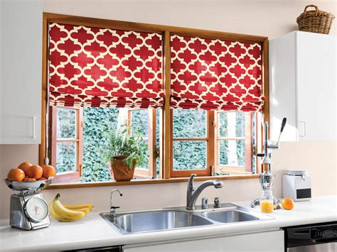 Hgtv Kitchen Curtains by Creative Kitchen Window Treatments Hgtv Pictures Ideas