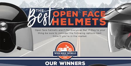 best open face helmets for casual style & breathability