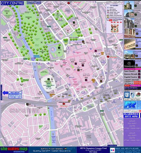map city centre cardiff map city centre