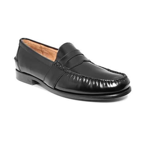 black polo loafers ralph arscott loafers ii in black for lyst