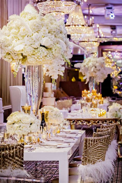 shawntaye and ronald s harlem renaissance themed vow renewal in all event decorations